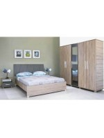 Pack mariage: chambre adulte Perla + living ATHENES + Table Serena et 6 chaises Confort