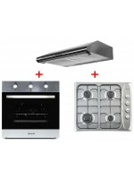 Pack Inox ORIENT Hotte + Plaque+Four Encastrable