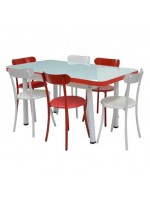 PACK SALLE A MANGER TABLE EXTENSIBLE TULIPE + 6 CHAISES SPOT