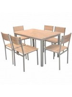 PACK SALLE A MANGER TABLE SERENA +6 CHAISES SERENA