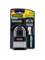 Stanley Security 24/7 Cadenas acier laminé 50mm anse standard - S742-005